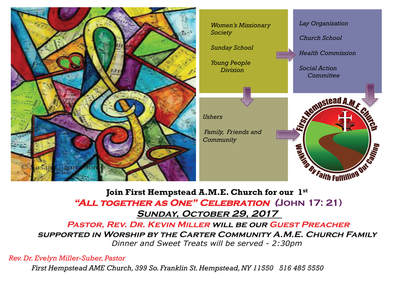 All Together As One Celebration First Hempstead AME Church